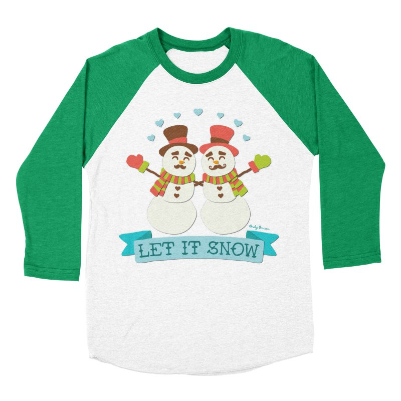 Let It Snow Women's Baseball Triblend T-Shirt by Andy Bauer's Shop