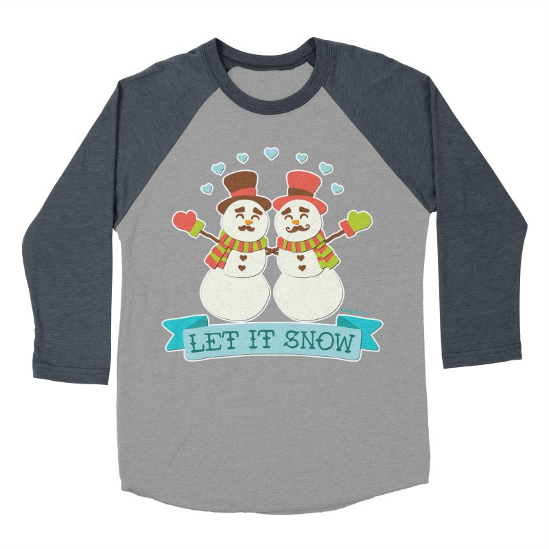 Let It Snow Women's Baseball Triblend Longsleeve T-Shirt by Andy Bauer's Shop