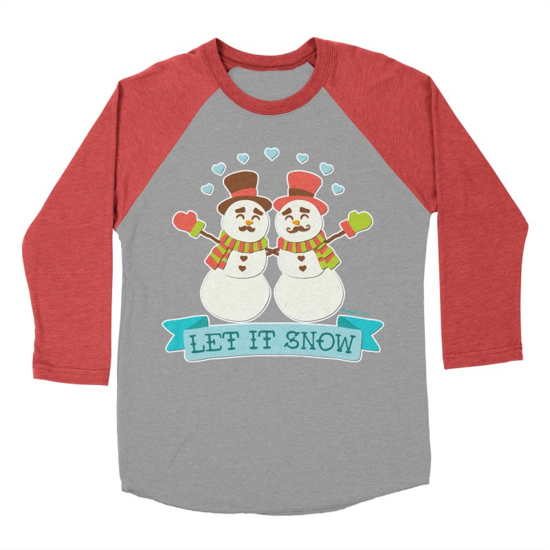 Let It Snow Men's Baseball Triblend T-Shirt by Andy Bauer's Shop