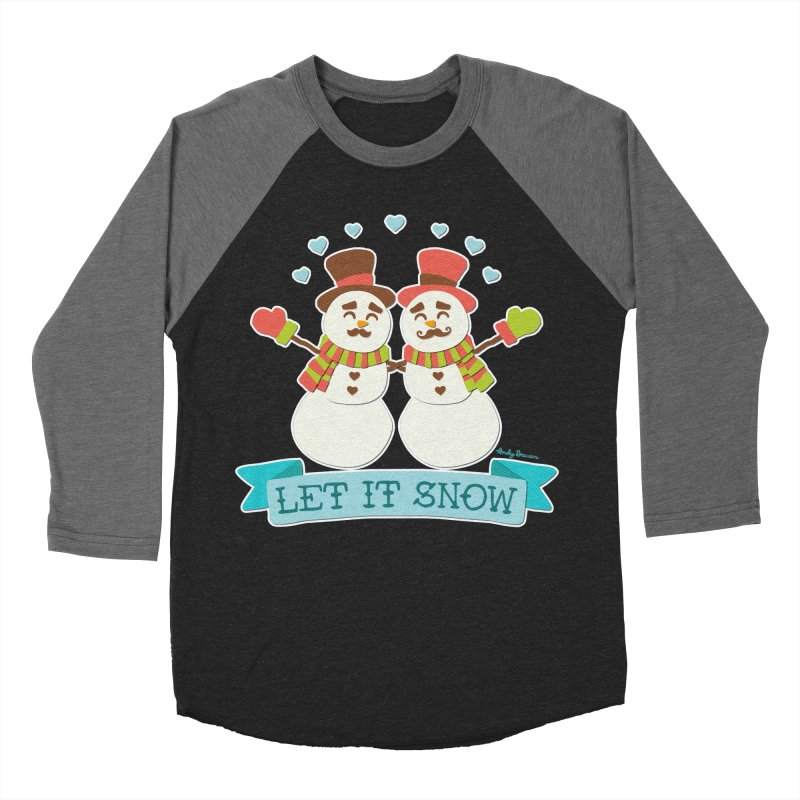 Let It Snow Men's Baseball Triblend Longsleeve T-Shirt by Andy Bauer's Shop