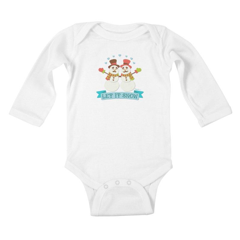 Let It Snow Kids Baby Longsleeve Bodysuit by Andy Bauer's Shop