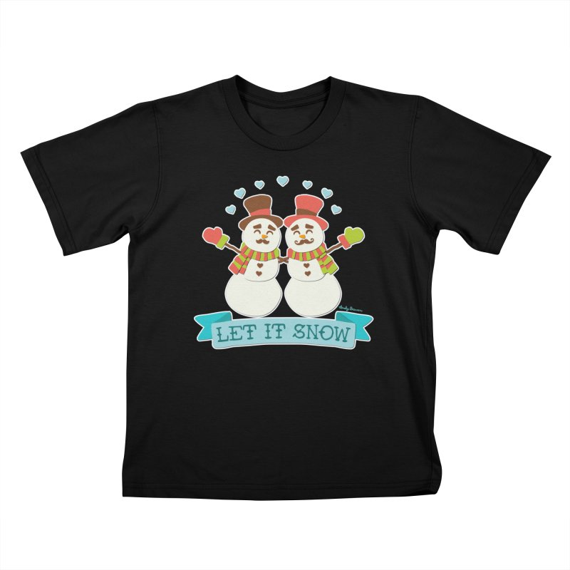 Let It Snow Kids T-Shirt by Andy Bauer's Shop