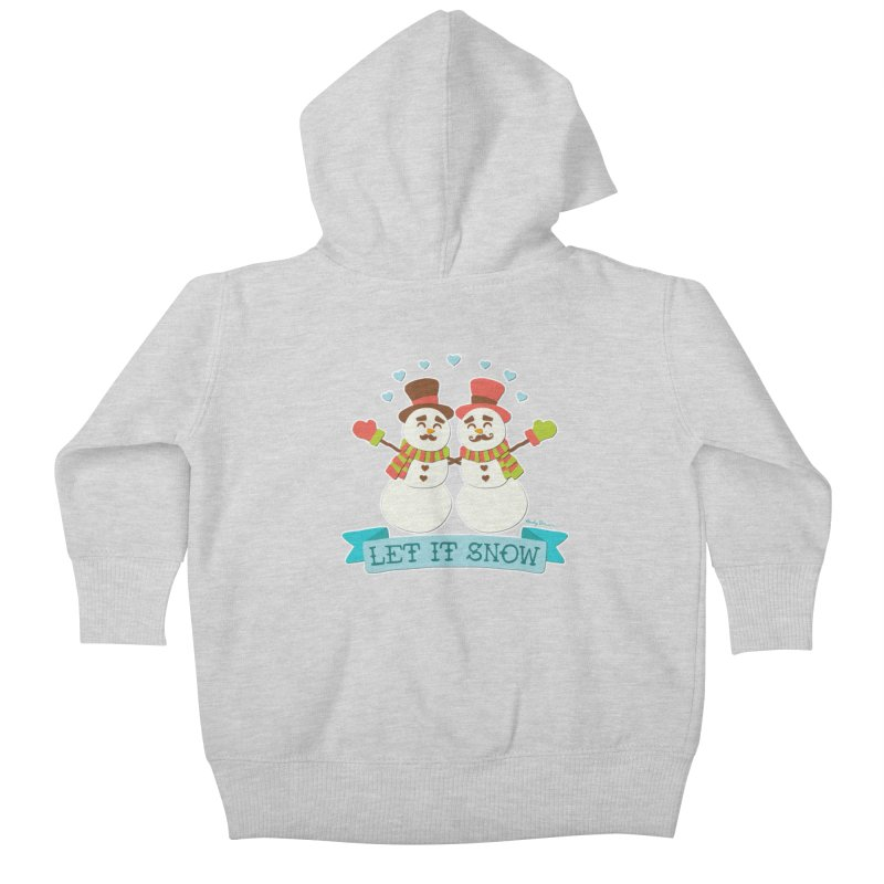 Let It Snow Kids Baby Zip-Up Hoody by Andy Bauer's Shop