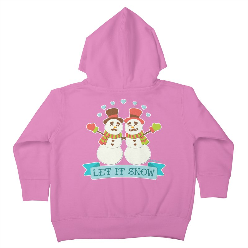 Let It Snow Kids Toddler Zip-Up Hoody by Andy Bauer's Shop