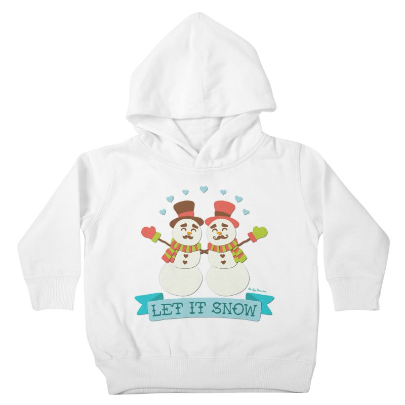 Let It Snow Kids Toddler Pullover Hoody by Andy Bauer's Shop