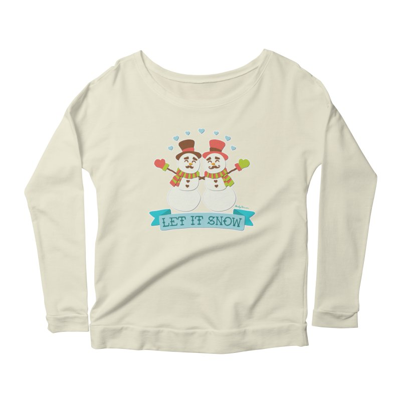 Let It Snow Women's Longsleeve Scoopneck  by Andy Bauer's Shop