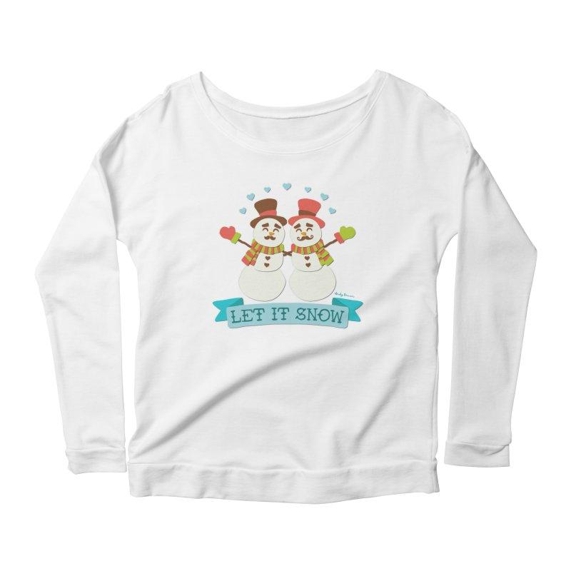 Let It Snow Women's Scoop Neck Longsleeve T-Shirt by Andy Bauer's Shop