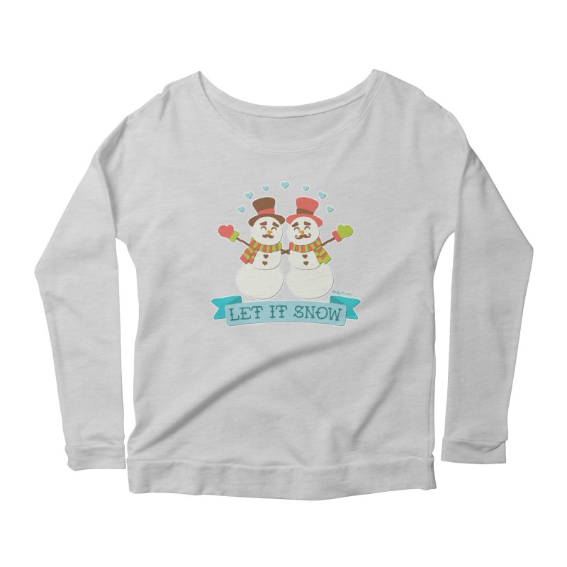 Let It Snow Women's Scoop Neck Longsleeve T-Shirt by Andy Bauer's Shop
