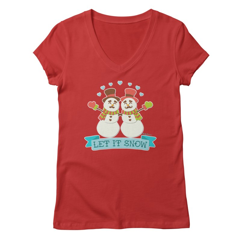 Let It Snow Women's Regular V-Neck by Andy Bauer's Shop
