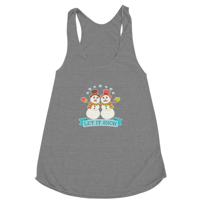 Let It Snow Women's Racerback Triblend Tank by Andy Bauer's Shop