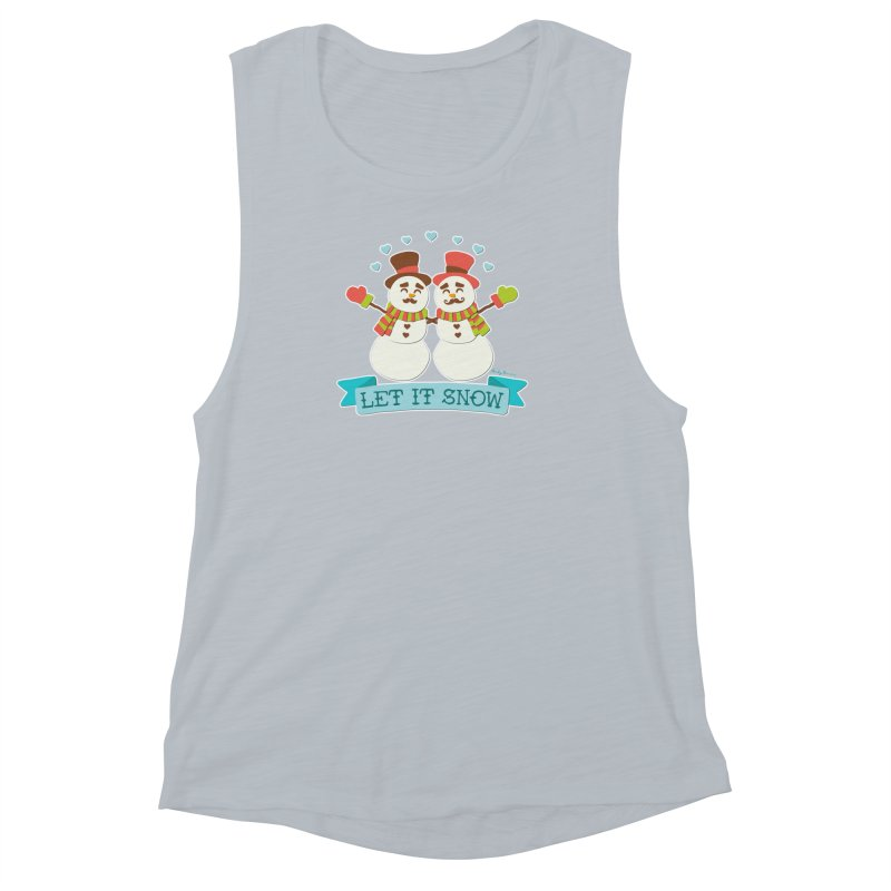 Let It Snow Women's Muscle Tank by Andy Bauer's Shop