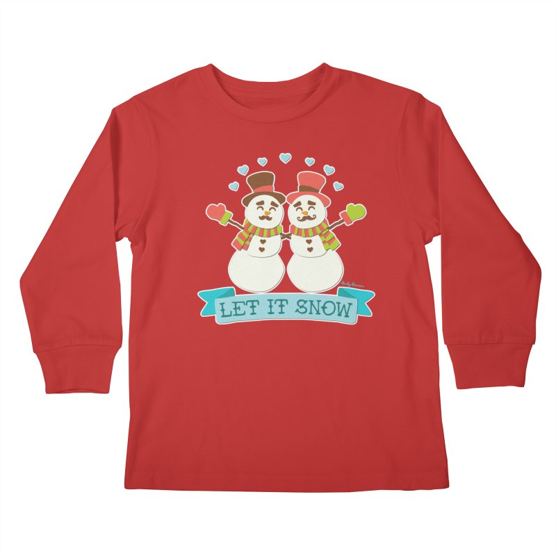 Let It Snow Kids Longsleeve T-Shirt by Andy Bauer's Shop