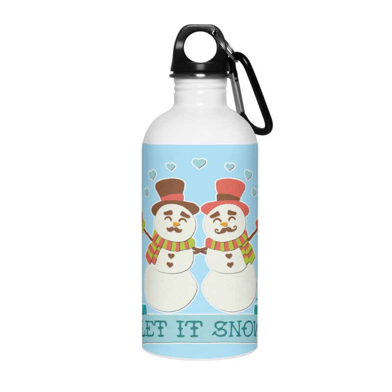 Let It Snow Accessories Water Bottle by Andy Bauer's Shop