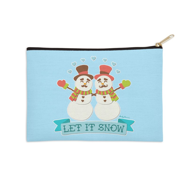 Let It Snow Accessories Zip Pouch by Andy Bauer's Shop