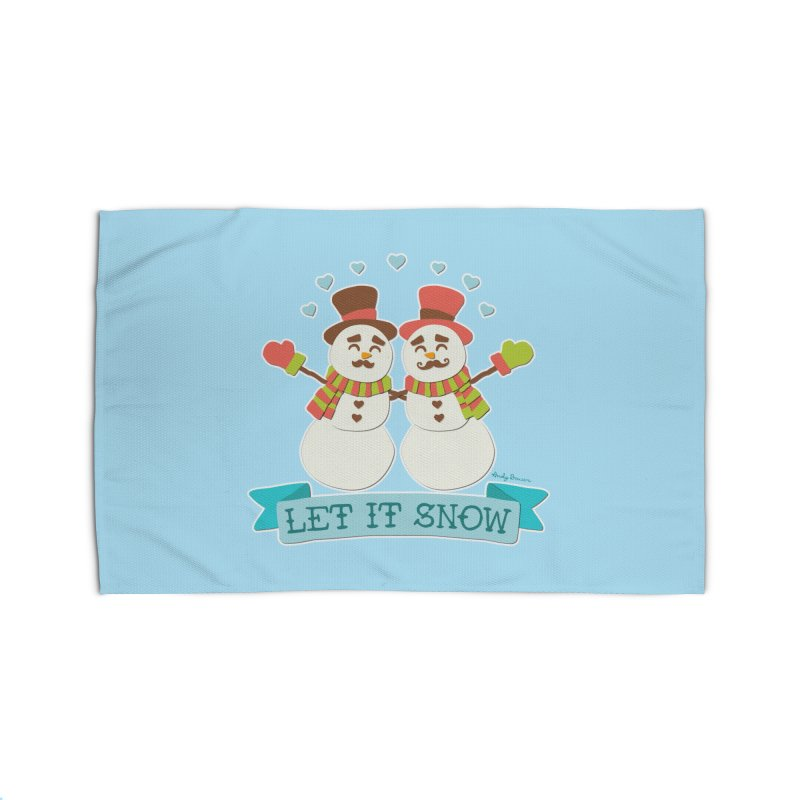 Let It Snow Home Rug by Andy Bauer's Shop