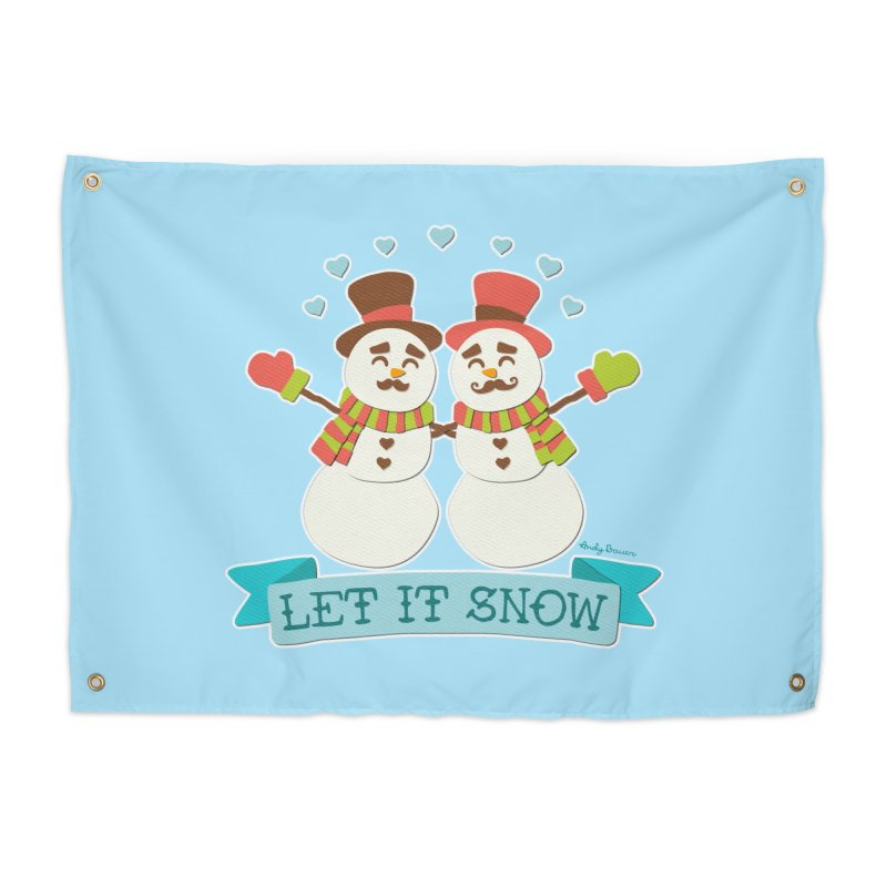 Let It Snow Home Tapestry by Andy Bauer's Shop