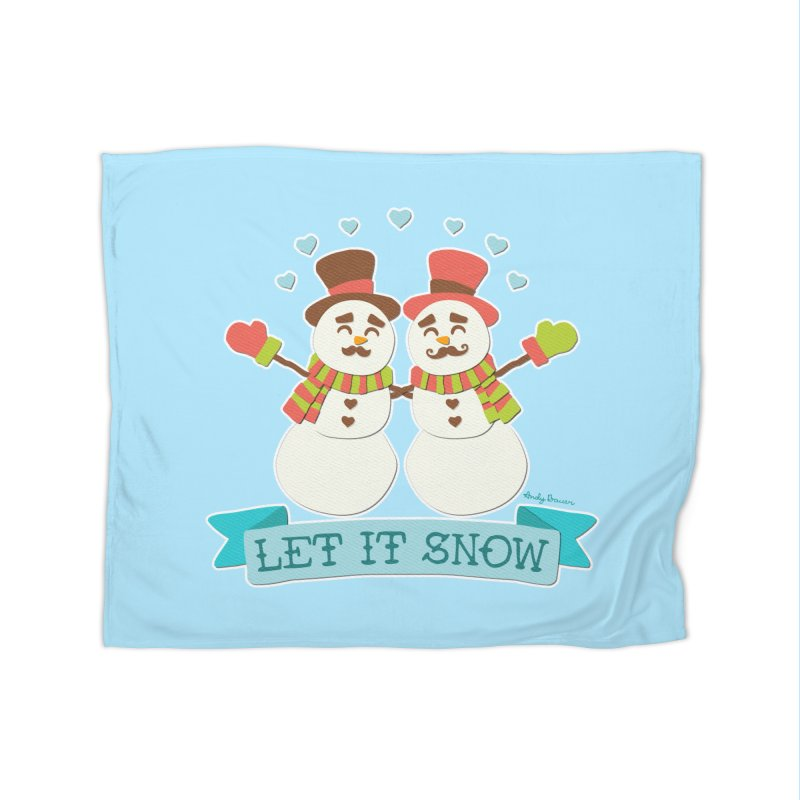 Let It Snow Home Blanket by Andy Bauer's Shop