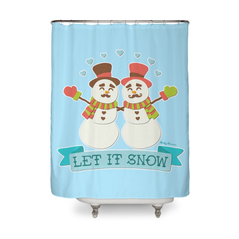 Let It Snow Home Shower Curtain by Andy Bauer's Shop