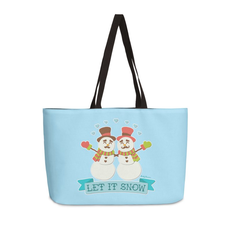 Let It Snow Accessories Weekender Bag Bag by Andy Bauer's Shop