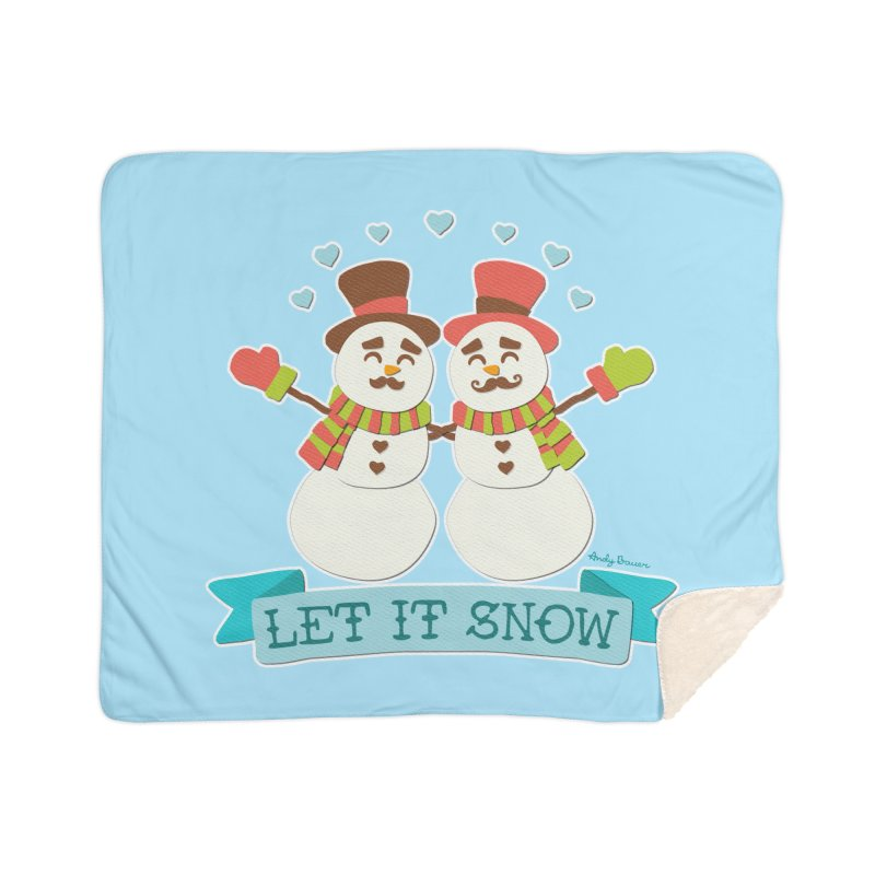 Let It Snow Home Sherpa Blanket Blanket by Andy Bauer's Shop