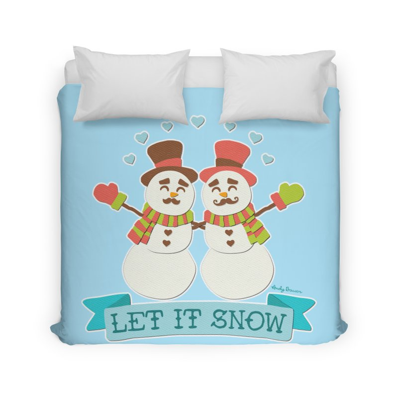 Let It Snow Home Duvet by Andy Bauer's Shop