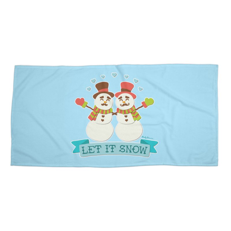 Let It Snow Accessories Beach Towel by Andy Bauer's Shop
