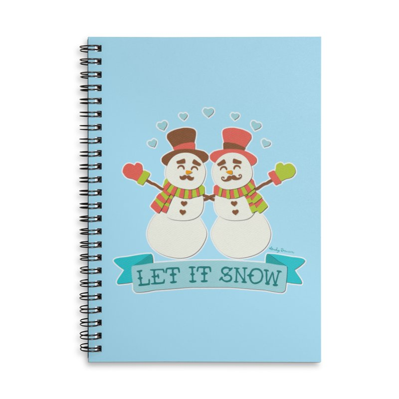 Let It Snow Accessories Lined Spiral Notebook by Andy Bauer's Shop