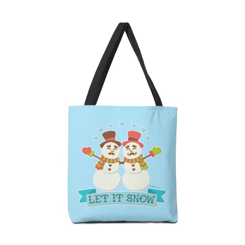 Let It Snow Accessories Bag by Andy Bauer's Shop