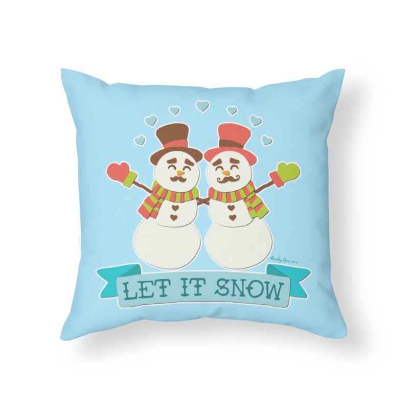 Let It Snow Home Throw Pillow by Andy Bauer's Shop