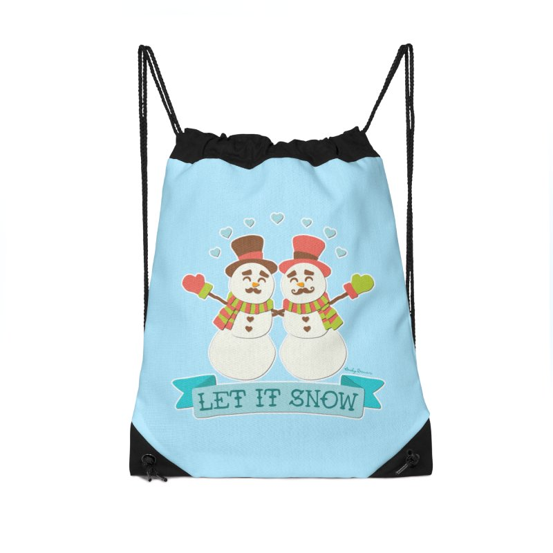 Let It Snow Accessories Drawstring Bag Bag by Andy Bauer's Shop