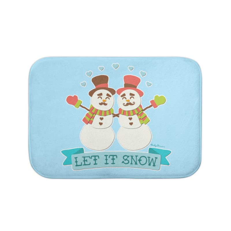 Let It Snow Home Bath Mat by Andy Bauer's Shop