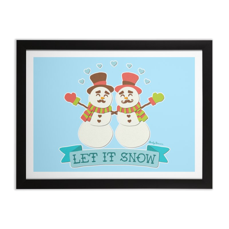 Let It Snow Home Framed Fine Art Print by Andy Bauer's Shop