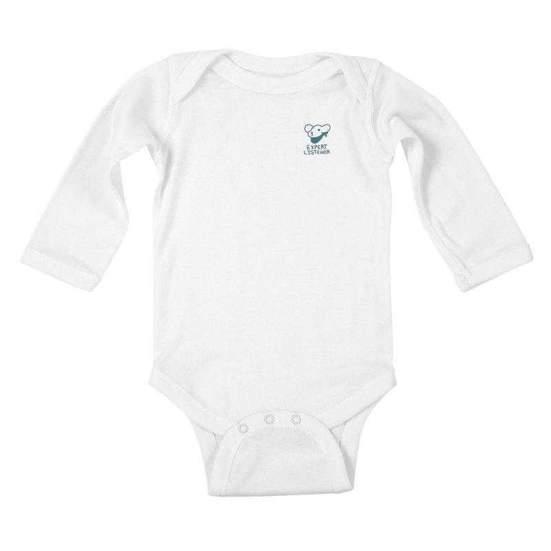 Börk is a Listener Kids Baby Longsleeve Bodysuit by Andrea Bell