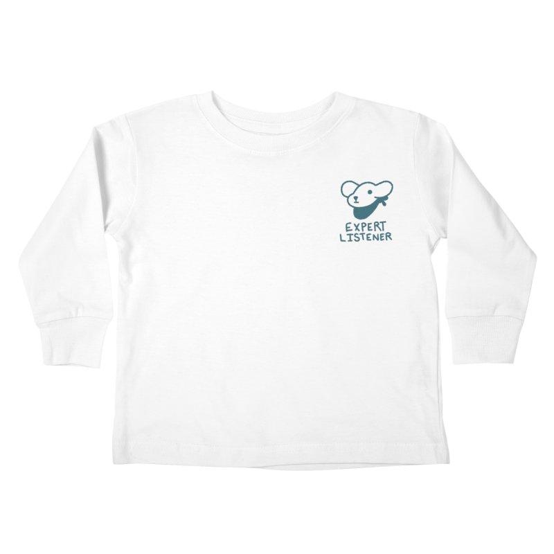 Börk is a Listener Kids Toddler Longsleeve T-Shirt by Andrea Bell