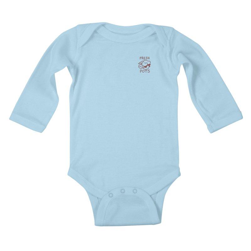 Börk likes Coffee Kids Baby Longsleeve Bodysuit by Andrea Bell
