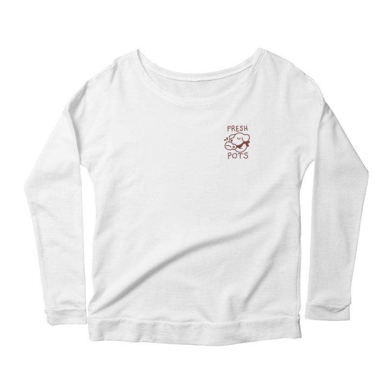 Börk likes Coffee Women's Scoop Neck Longsleeve T-Shirt by Andrea Bell