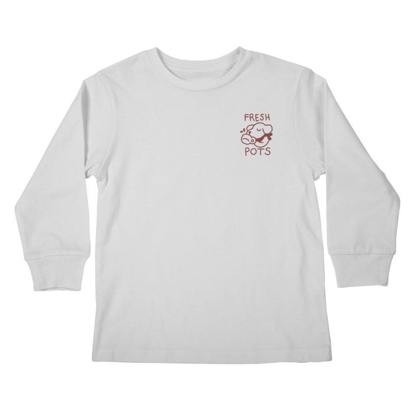 Börk likes Coffee Kids Longsleeve T-Shirt by Andrea Bell