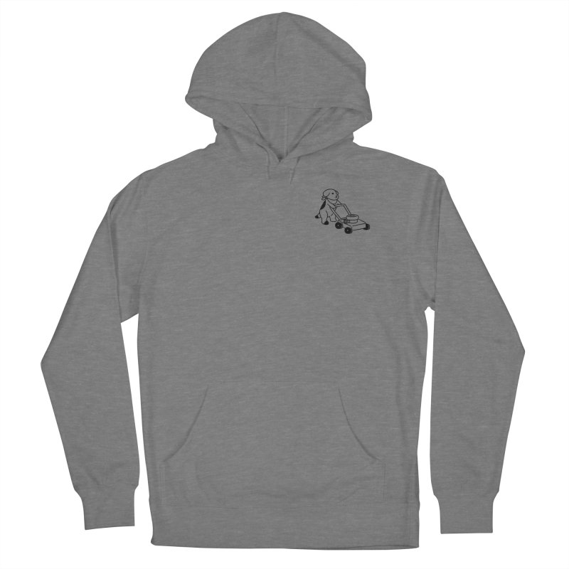 Börk can Mow Men's French Terry Pullover Hoody by Andrea Bell