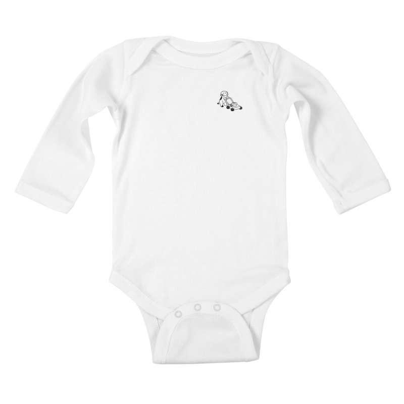Börk can Mow Kids Baby Longsleeve Bodysuit by Andrea Bell