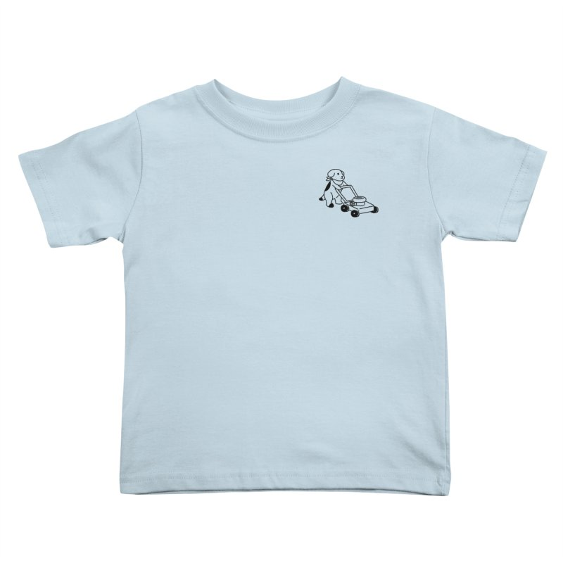 Börk can Mow Kids Toddler T-Shirt by Andrea Bell