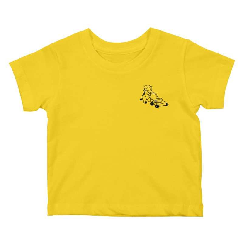 Börk can Mow Kids Baby T-Shirt by Andrea Bell