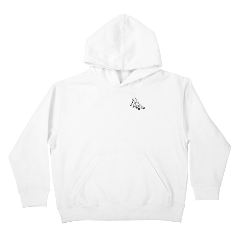 Börk can Mow Kids Pullover Hoody by Andrea Bell