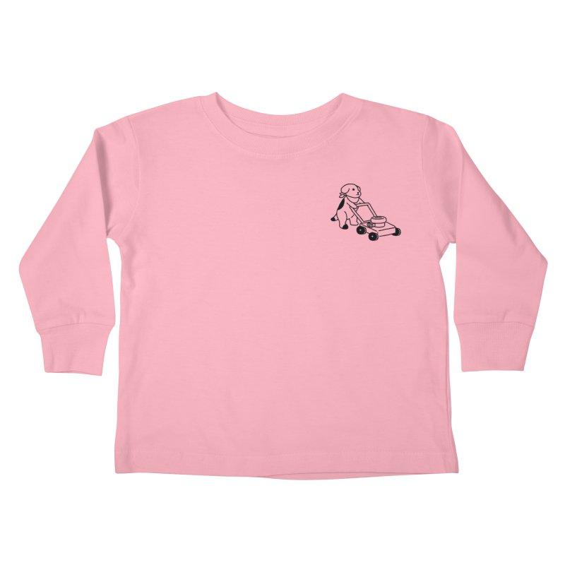 Börk can Mow Kids Toddler Longsleeve T-Shirt by Andrea Bell