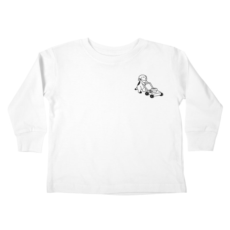 Börk can Mow Kids Toddler Longsleeve T-Shirt by Andrea Bell