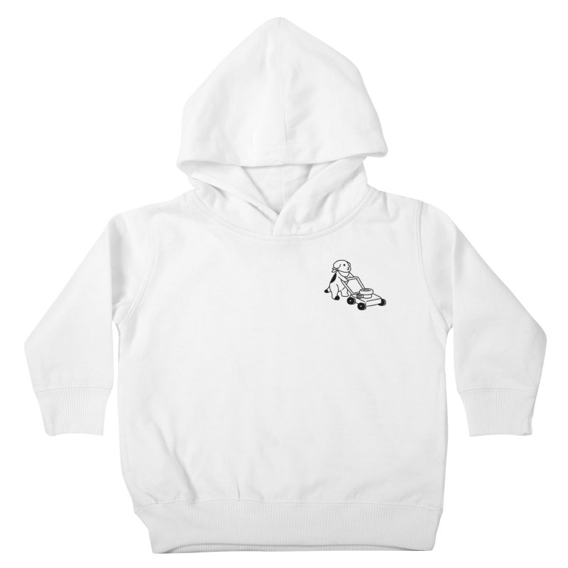 Börk can Mow Kids Toddler Pullover Hoody by Andrea Bell