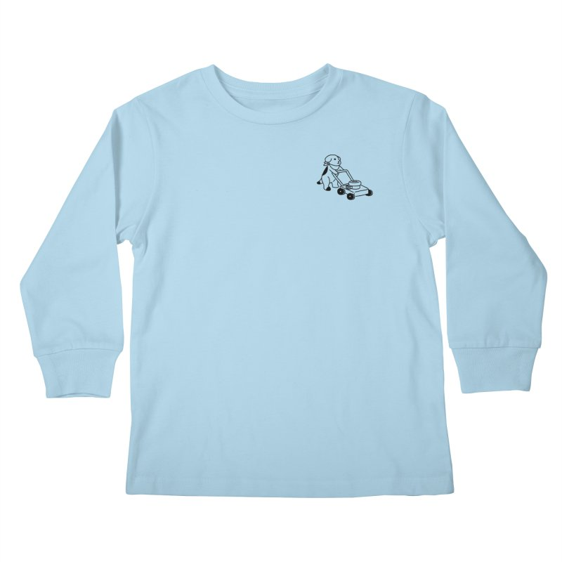 Börk can Mow Kids Longsleeve T-Shirt by Andrea Bell