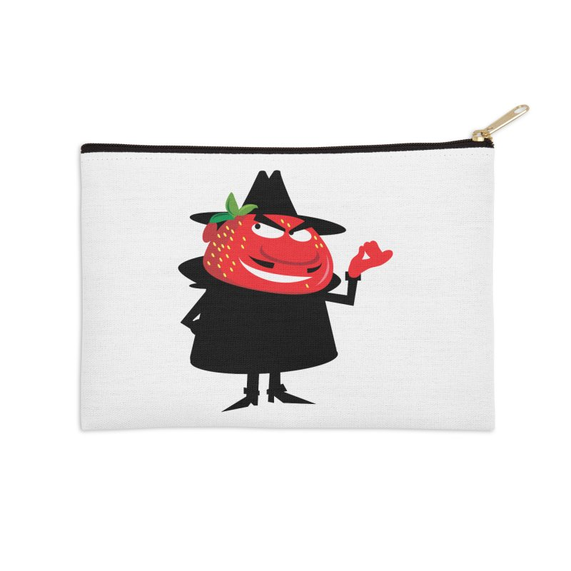 Bad Strawberry Accessories Zip Pouch by andyman4213's Artist Shop