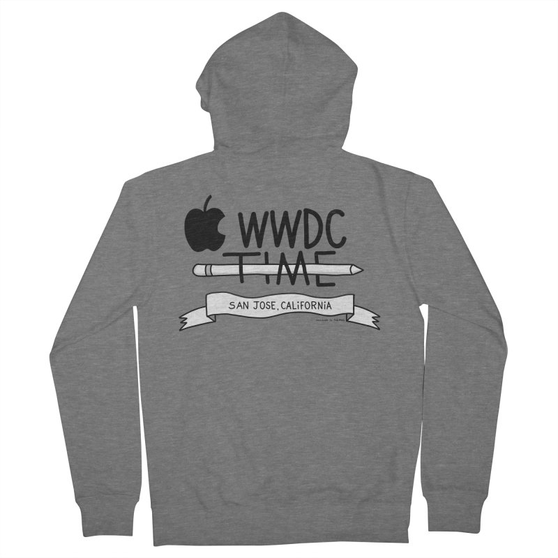 WWDC Time Men's French Terry Zip-Up Hoody by