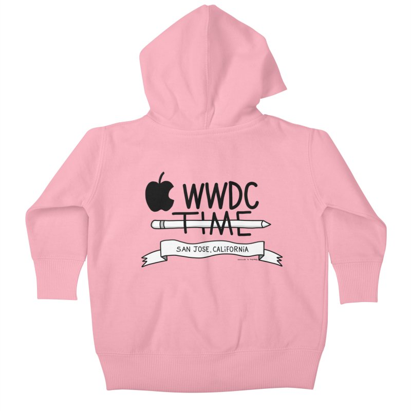WWDC Time Kids Baby Zip-Up Hoody by