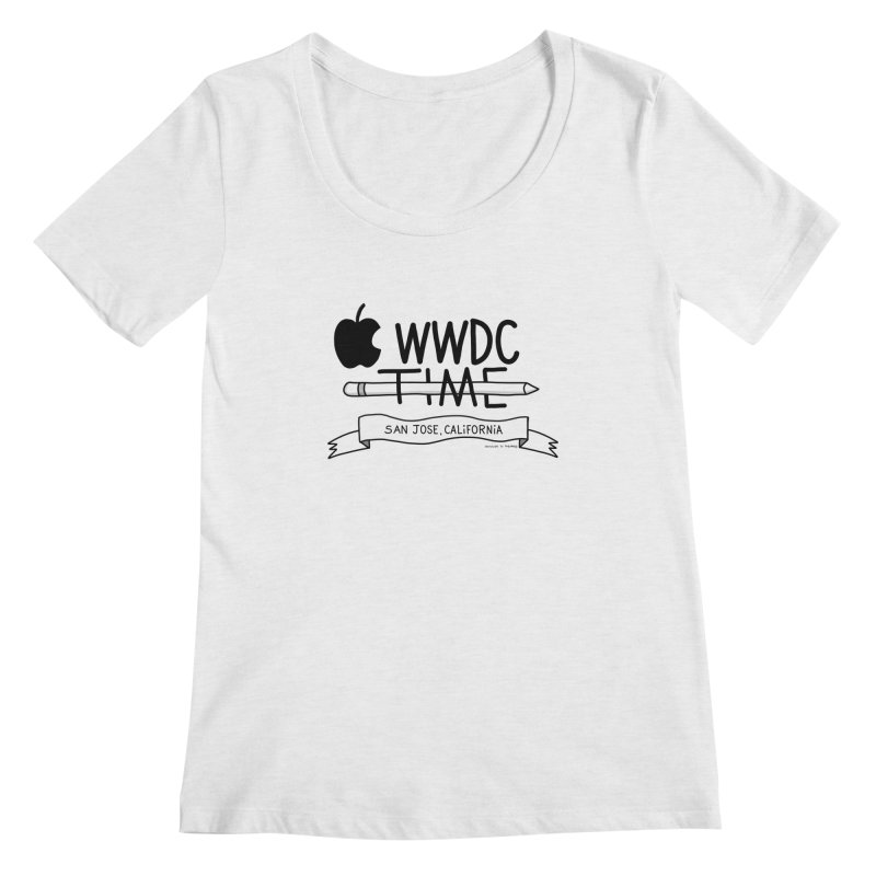 WWDC Time Women's Regular Scoop Neck by